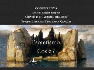 Conferenza Sabato 14 Novembre presso Libreria Esoterica Cavour
