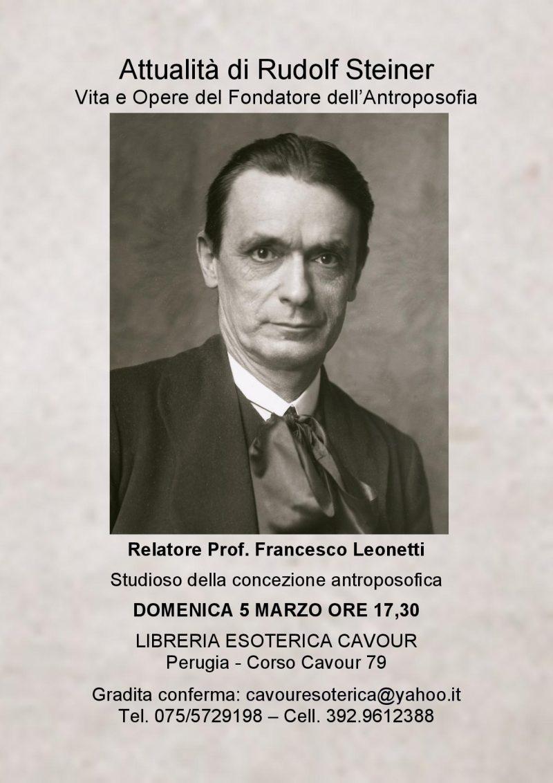 """Domenica 5 Marzo Conferenza """"Attualit Di Rudolf Steiner Vita E"""